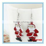 Vnistar high quality wholesale Christmas jewelry silver plated Santa Claus earrings for women VER001