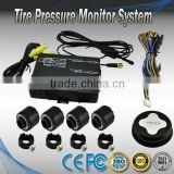Wireless External TPMS Tyre Pressure Monitoring System Valve set 4 sensors Displayed on DVD