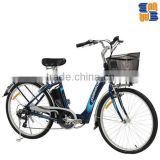 "MB-C601 city bike 26"" electric bike with Lithium battery aluminium alloy frame"