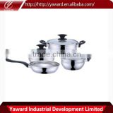 2016 Factory Direct Supply Stainless Steel Cookware Set 7-Pieces