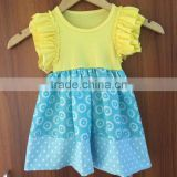 High quality wholesale baby dress lovely boutique kids ruffle dress modern girls dresses