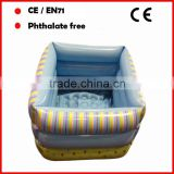 6P Phthalate free PVC inflatable foot bath tub custom logo for promotion