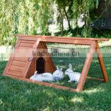 outdoor wooden triangle rabbit cage