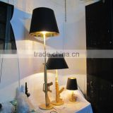 Modern Gun Floor Lamp Gold Chrome