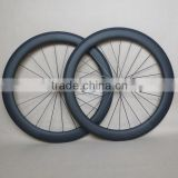 25mm Wide U Shape Carbon Wheels 60mm Clincher ruedas carbono cubierta T700