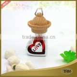 mini wooden cap fashion cute heart design car perfume
