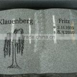 European style granite book shape headstones