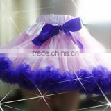New arrival!! Baby pink and royal bluechiffon petti skirt with lace ruffle and bow for beautiful girl