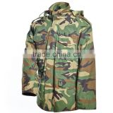 Outdoor hunting clothing Woodland Camo Winter Military Jackets M65 Field Jacket