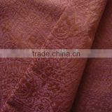 silk cotton upholstery fabric for curtain sofa