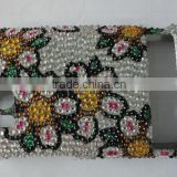Spring Coming, All flowers bloom together, we desinged novelty flower style rhinestone cell phone cover