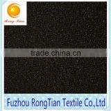 Black tricot knitted brushed shinny velvet fabric for bedding sets