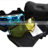 Unisex Adults Detachable Lens and Super Big Spherical REVO Goggles Snowmobile Ski Sunglasses & Snowboard Goggles
