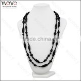 Natural black agate beeds necklace fashion agate bead for sale