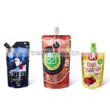 stand up doypack pouch for shampoo,laundry detergent,fruit juice,ketchup