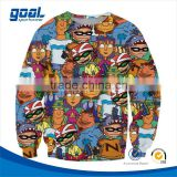 Autumn sports bespoke polyester attractive sublimation printing kids sweatshirt without hood