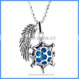 Angel Wing Tortoise Metal Hollow Cage Chime Box Musical Sound Bell Pendant Prenatal Pregnancy Maternity Necklace BAC-M057