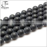 Natural Onyx Black Agate Gemstone Loose Beads Matte Round Crystal Energy Stone Healing Power for Jewelry Making