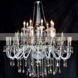 Modern big clear transparent crystal chandliers on decor