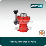 America NH fire hydrant ball valve for fire fighting equipent 2.5 fire hydrant valve