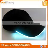 LED Optical Fiber Blank Cotton Outdoor Travel Night Luminous Light Baseball Cap Hat                                                                         Quality Choice