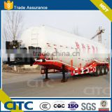 large capacity three axles wheet flour transport tank semi trailer, bulk cement carrier in china