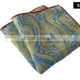 wholesale high quality men Silk Printing pocket square , polyester printing pocket square