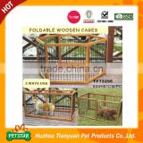 Fashion Material Small Foldable Wooden Frame Stainless Steel Pet Cage/Custom Made Dog Cages/Large Cat Cages                                                                         Quality Choice