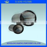 professional metal wire basket filter elements with acid resistance