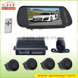 New 7inch LED rear view mirror bluetooth reverse camera and parking lot sensor system                                                                         Quality Choice