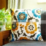 2015 new fashion towel embroidered cushion cover handmade indivitual cushion cover