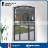 ROGENILAN 108# aluminum frame mordern scenic balcony vacuum glass picture french casement window