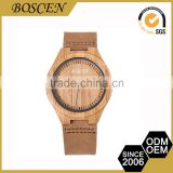 2016 Unisex Quality Assured New Pattern Oem Service Fashion Teenage Wooden Wood Bamboo Leather Watches
