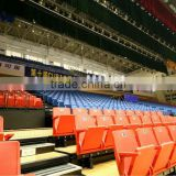 sport facility retractable tribune telescopic seating flex grandstand seating system. portable indoor