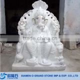 Hand Carved White Marble Ganesh Statue