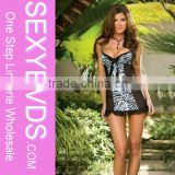Plus size leppard sexy babydoll mature plus size lingerie for fat women