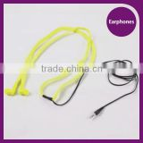 Wholesale Waterproof earphone in ear for mobile phone shoelace earphones with bass stereo