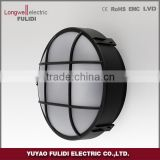 plastic material LED round bulkhead wall light,LED and E27 lampholder is available