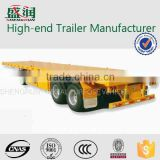 Widely used and high quality 3 axle 20ft /40ft flatbed container semi trailer /20ft /40ft flatbed container semi-trailer