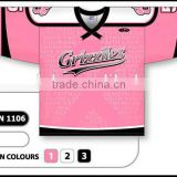 custom germany hockey jersey pink
