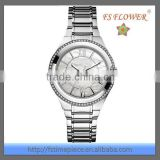 FS FLOWER - Fashion Stainless Steel Shell Surface Diamond Reloj Mujer