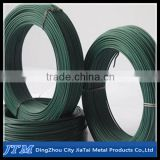 (17 years factory)2015 hot sell!!!Color pvc coated small coil iron binding wire for supermarket