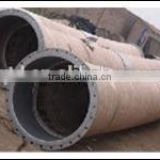 "concrete pump rubber hose 6"" with floating flange/ cement rubber hose/ 55bar&85bar concrete rubber hose with end fittings"