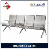 4 Seater 201 stainless steel airport chair waiting area furniture