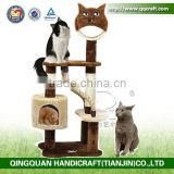 Luxury Wood Style Indoor Cat House,Cat Trees,Cat Condo