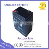 6v 4ah chirdren's toy car power supply battery made in China CE UL certification maintenace-free battery