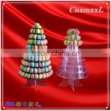 Wholesale alibaba 1-10 layers 237 macarons display tower macaron tower plastic box high quality Clear macaron stand packaging