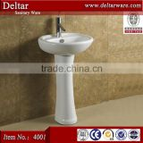 foshan ceramic pedestal basin, cheapest price for construction building, one piece bathroom sink and countertop