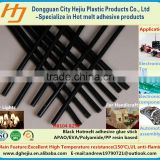 Automotive Black APAO/EVA/Polyamide/PP base hot melt adhesive &glue stick for carpet fit andseat/automotive lights