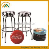 Wholesale cheap metal bar stool backless KP-BS001